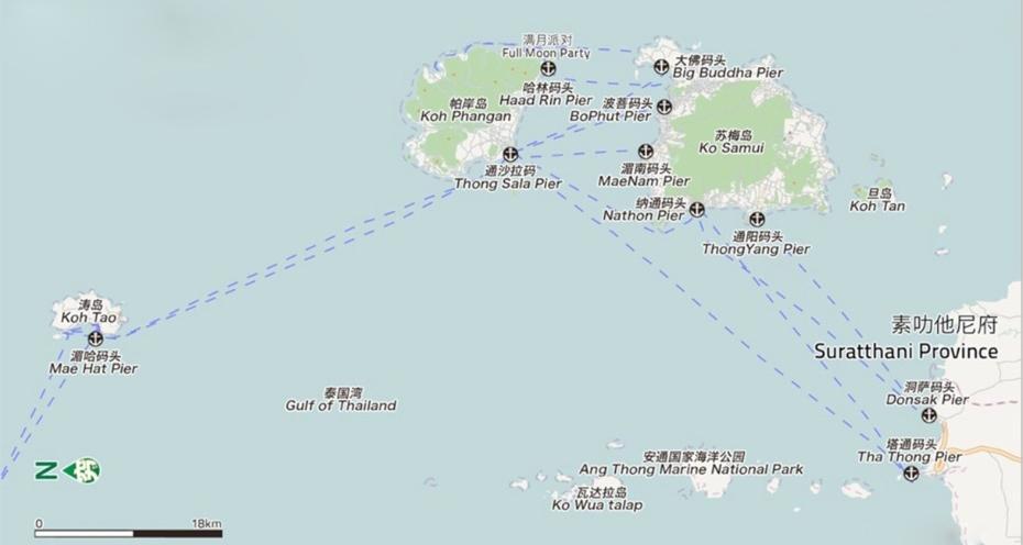 帕岸島到濤島船票(電子票),帕岸島船票,濤島船票