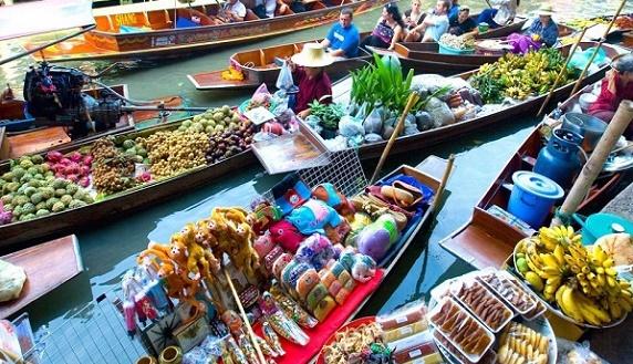 曼谷美攻鐵道+水上市場包車一日遊