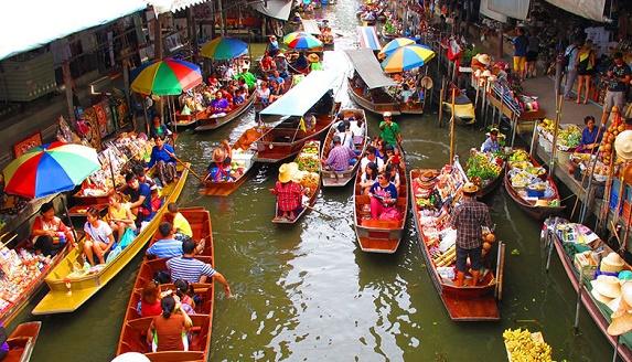 曼谷水上市場+美攻鐵路+騎大象半日遊