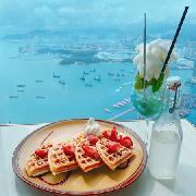 香港天際Café 100雲巔之嘗美饌套票(窩夫1份+飲品1份+入場門票2張)